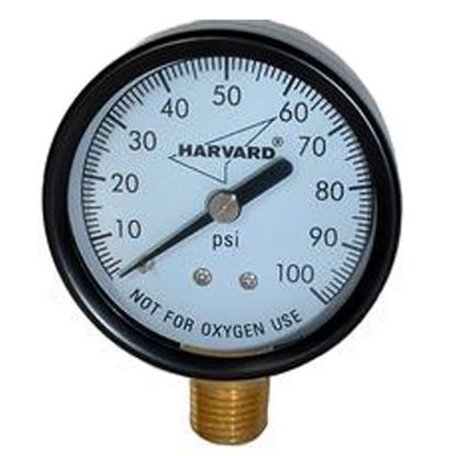 PRESSURE GAUGE .25IN MPT LOWER 3.5IN FACE TO 100# STEEL CASE IPG10035-4L