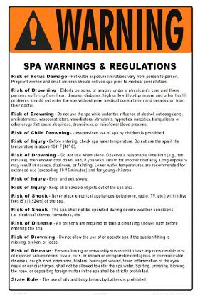 SPA RULES SIGN (MA ONLY 4511WS1218E