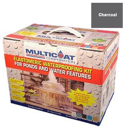 WATERPROOFING COAT CHARCOAL 50 SQ FT COVERAGE MULTICOAT WPBOX CH